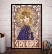 Toile avec impression hd de steve Nicks Mucha Art, affiche de décoration murale de maison, cadre de décoration de chambre à coucher