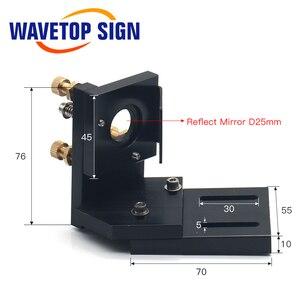 Image 3 - WaveTopSign CO2 לייזר מתכת חלקי שידור לייזר ראש סט מכאני רכיבים עבור DIY CO2 לייזר חריטת מכונת חיתוך