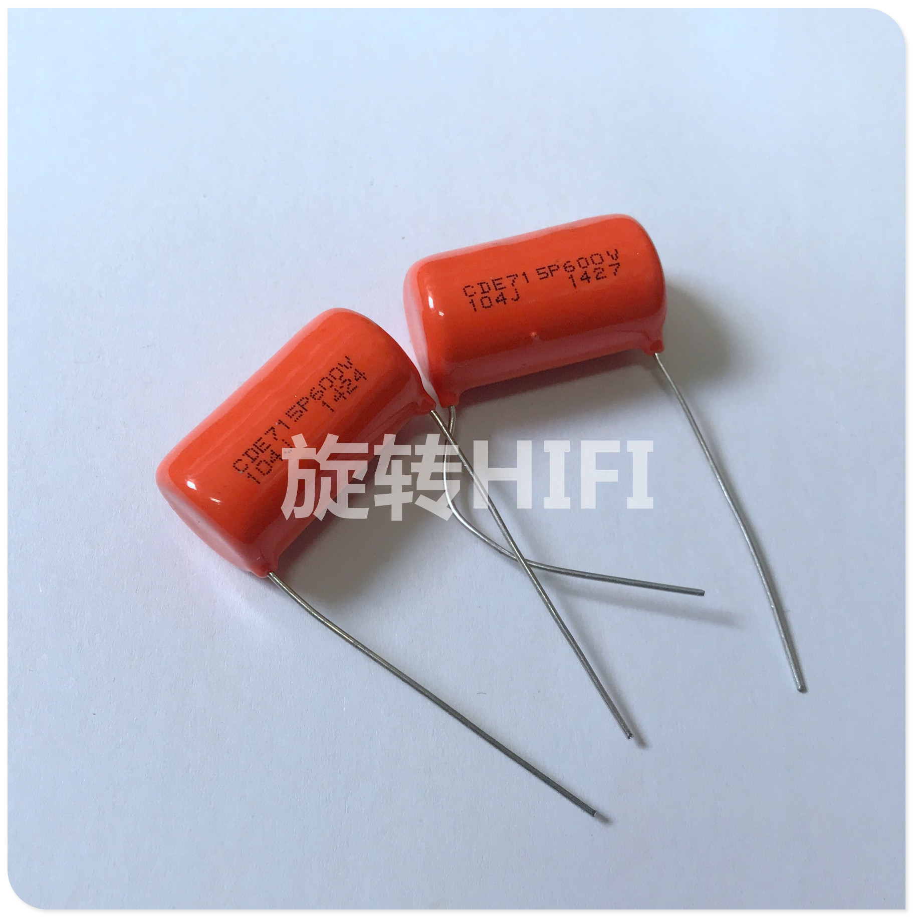 10PCS CDE SPRAGUE CDE715P 600V 0.1UF P28MM Orange Fever Film Capacitor MKP SBE 715P 104 600V 100NF 104/600V