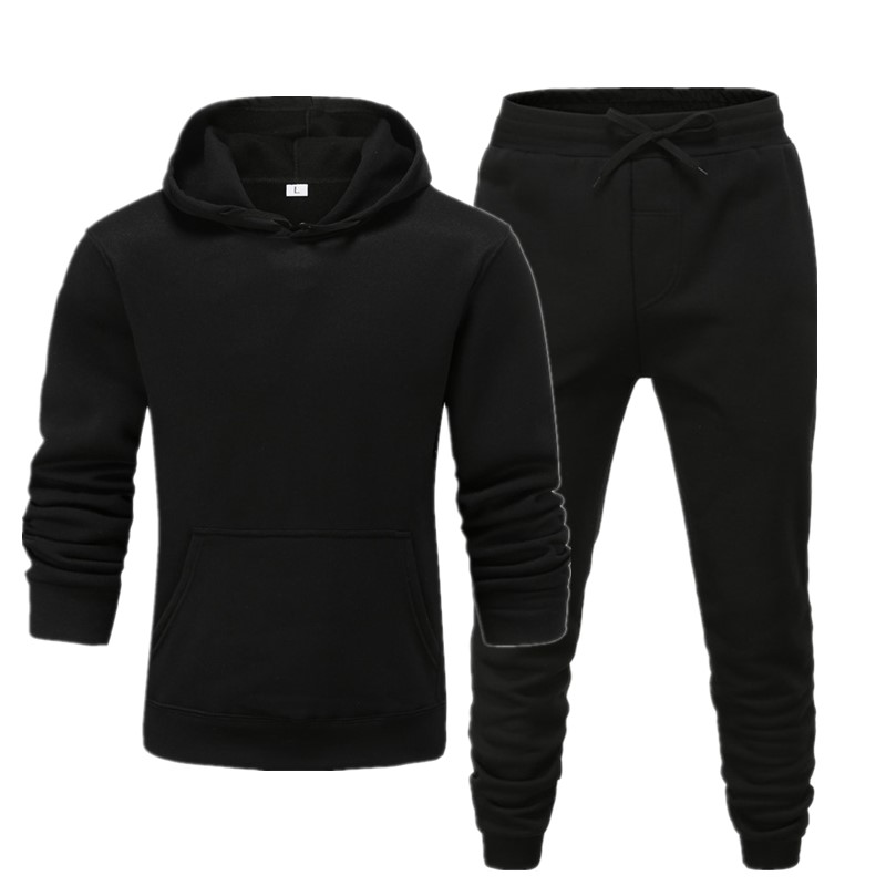 2020 brand sporting suit men warm hooded tracksuit track men's sweat suits set large size sweatsuit men's Pure color Casual Suit