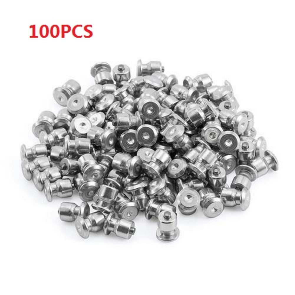 100PCS Winter Wheel Lugs Car Tires Studs Screw Anti-Slip Snow Tire Wheel Spikes Hard Alloy Studs 8x10mm For Car Motorcycle