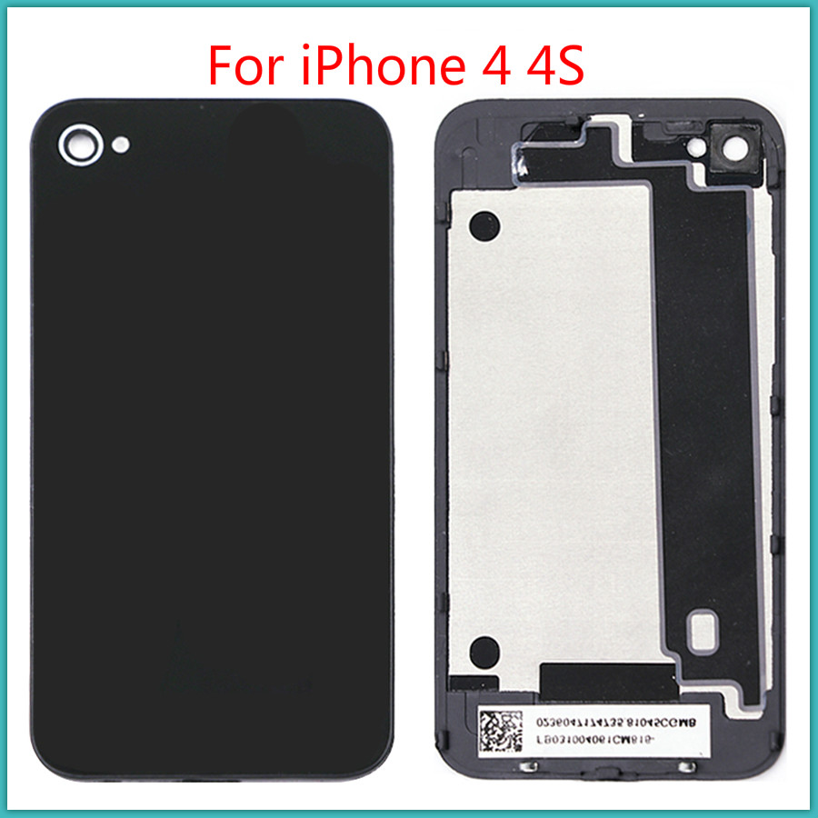 100% Tested High Quality For IPhone 4 4S Battery Back Cover Battery Door Glass + Back Chassis Frame