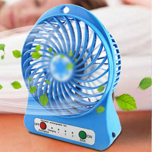Portable Adjustable //3 Speed Control//Desktop Humidifying Charging USB Fan,for Air Cooler Color : Blue Portable Electric Fan