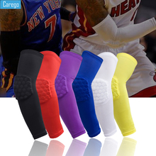 Carego 1PCS Honeycomb Elastic Basketball Sports Elbow Support Arm Sleeve Pads Basketball Volleybal Protector Guard Safety triple 8 ep 55 elbow pads skate safety pads black jr xs