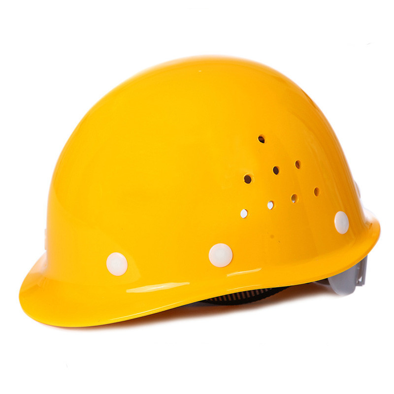 Full Carton Box Reilly ABS Safety Helmet Of High Strength Circle Breathable Labor Safety Helmet Printed Words Logo