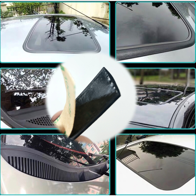 1 ~ 8 מטר רכב חלון חותם Weatherstrip קצה Trim לרכב דלת זכוכית חלון גומי חותם עבור פולקסווגן גולף פולו פאסאט