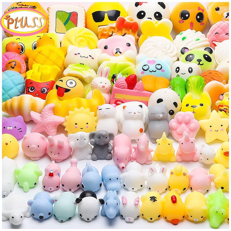 Squishy Toy Cute Cake Bread Animal Antistress Ball Squeeze Mochi Rising Toys Abreact Soft Food Squishi Stress Relief Toys