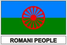 Criativo adesivo bandeira roms ciganos rom para a motocicleta portátil carro rv suv adesivos de parede pvc vinil reflexivo adesivos