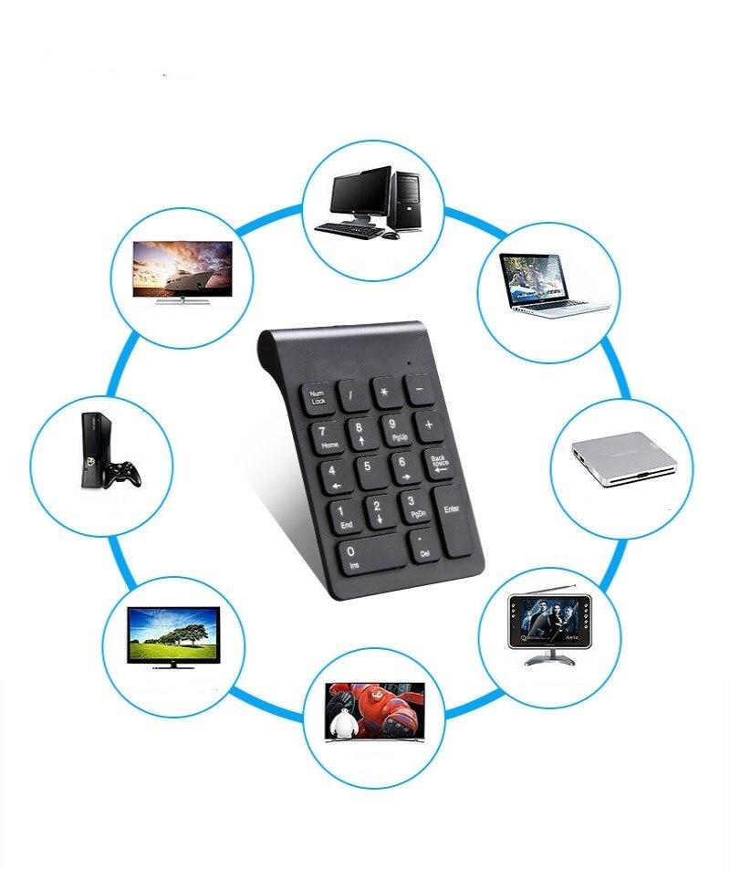 Bàn Phím Số Không Dây 2.4G Mới Mini Di Động Bàn Phím Số USB Bàn Phím Số 18 Phím Cho Laptop Công Sở PC Máy Tính Bảng máy Tính Để Bàn title=