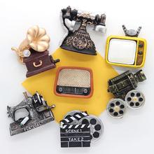 Geladeira ímã mini reto funiture modelo crianças como característica cozinha decoração de casa adesivo magnético criativo colar presente estéreo
