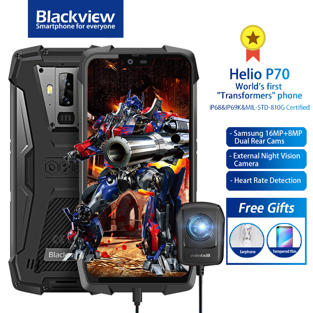 Blackview BV9700 Pro IP68/IP69K téléphone portable robuste Helio P70 Octa core 6GB + 128GB 5.84