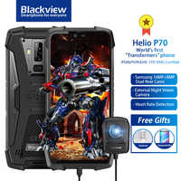 "Blackview BV9700 Pro IP68/IP69K Rugged Mobile Phone Helio P70 Octa core 6GB+128GB 5.84"" Android 9.0 16MP+8MP Face ID Smartphone"