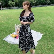 Женское шифоновое платье средней длины черное элегантное модельное