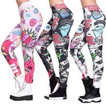 Yoga Pants High Waist Novelty Printed Tights Womens Fitness Yoga Leggings Gym Sport Pants