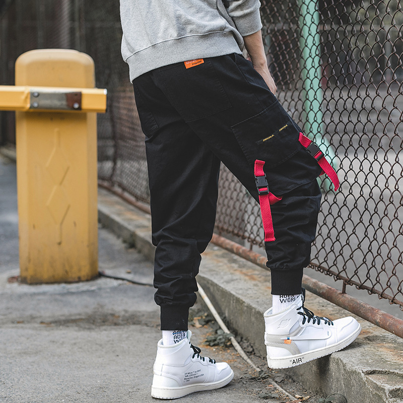 2018 Autumn New Products Japanese-style Popular Brand Large Pocket Bib Overall Loose-Fit Versitile Fashion Skinny Pants