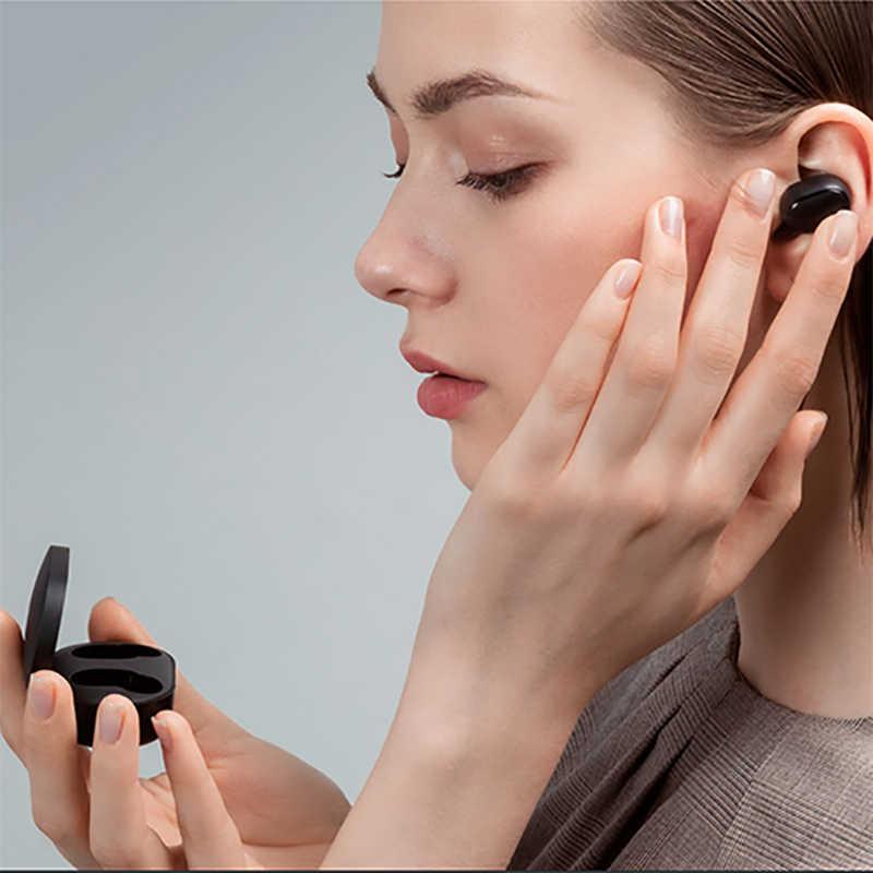 Xiaomi Redmi Airdots беспроводные Bluetooth наушники стерео TWS с микрофоном громкой связи AI управление Bluetooth 5,0 гарнитура бас Eeadphones