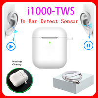 Original i1000 TWS 1:1 In ear H1 Aire 2 Bluetooth Earphone Mini Wireless Earbud Headphone Aire2 Headset PK W1 Chip elari Kulakli