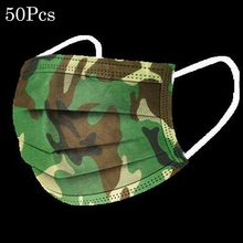 In Stock 50pc Camouflage Disposable Face Mouth Industrial 3ply Ear Loop Earloop For Cycling Personal Health Care Dropshipping(China)
