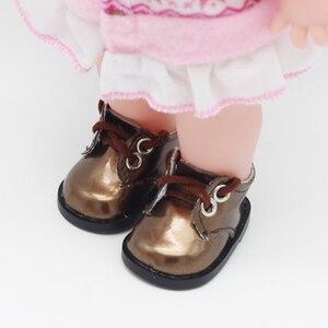 Image 5 - הגעה חדשה 5cm PU נעלי BJD בובת 14 אינץ אופנה מיני בובת נעלי EXO רוסית DIY בעבודת יד בובת אבזרים