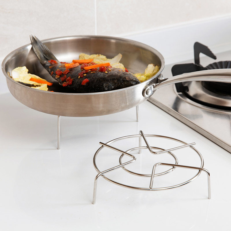 Andifany Stainless Steel Round Steamer Steam Rack Kitchen Cooking 6 Dia