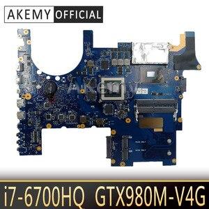 Placa base de ordenador portátil Akemy ROG G752VY para ASUS G752VY G752V G752, placa base de prueba original I7-6700HQ GTX980M-V4G