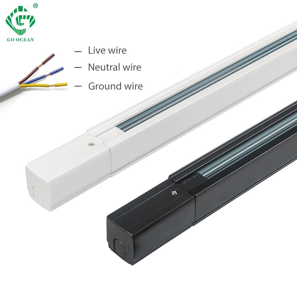 Track Lighting Track Rail 1m 3 Phase 4 Wire Circuit Light Raill Global System Led Track Spotlight Rail 10pcs/lot