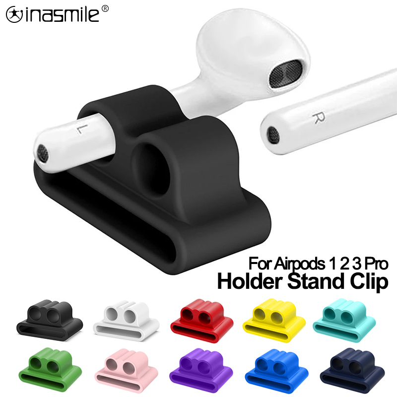 Sport Anti-Lost Earphone Silicone Holder Clip For Apple AirPods 3 2 1 Earphone Accessories Stand Holder For Apple Airpods Pro
