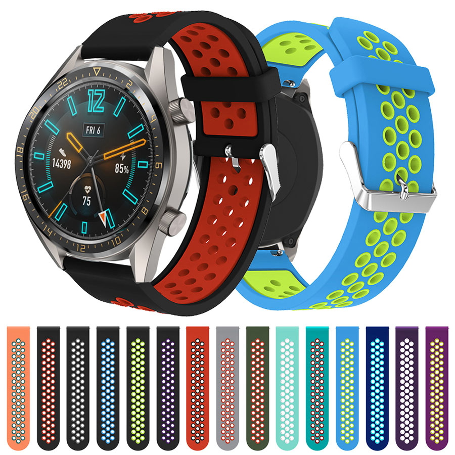 Breathable Silicone Band For HUAWEI WATCH GT Honor Magic Strap Bracelet Replacement Watch Band For Gear S3 Amazfit Pace  Stratos