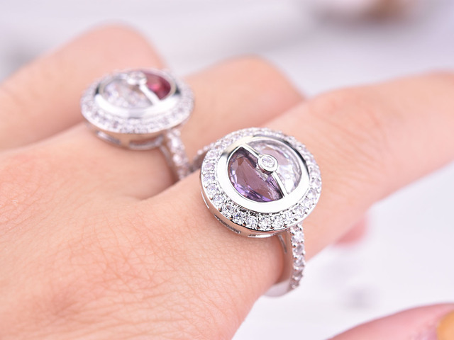 2020 New Pokeball Pokemon Cute Silver Color Ring with Zircon Stone for Women Wedding Engagement Fashion Jewelry