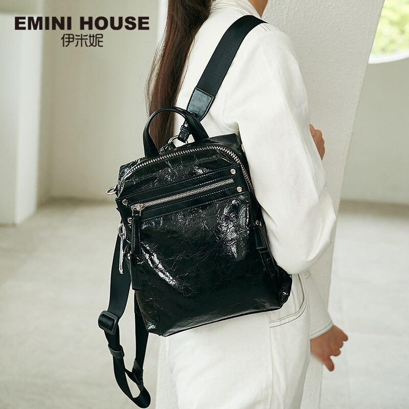EMINI maison Punk Style femmes sac à dos multiples méthodes de port femmes sac à bandoulière sacs à dos pour les adolescentes sac d'école