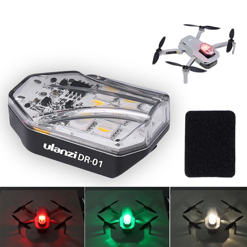 Ulanzi DR 01RGB Dji MAVIC Mini Pro Mavic Air 2 Mavic Pro Platinum Drone światło stroboskopowe wyszukiwanie oświetlenie nocna nawigacja|Zestawy akcesoriów do dronów|   - AliExpress