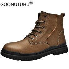 2021 Стиль мужские зимние ботинки в армейском стиле туфли из