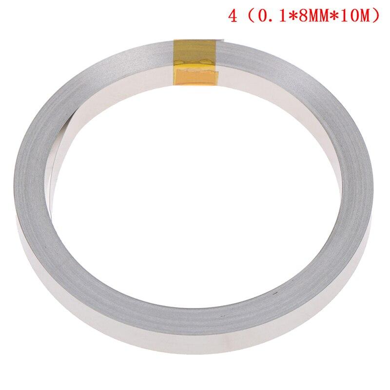 10M 8mmx0.1mm Ni Plate Nickel Strip Tape For Li 18650 26650 Battery Spot Welding
