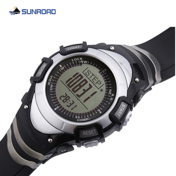 цена на SUNROAD mens watch outdoor sports watches military water resistant altimeter barometer compass steps calorie student wrist watch