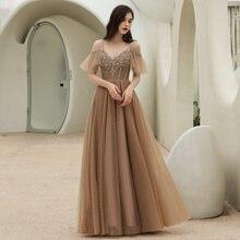 Bepeithy v образным вырезом хаки вечернее платье вечерние элегантные