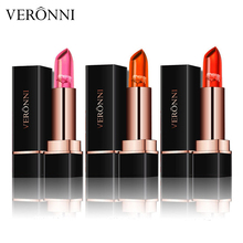 VERONNI 3 Color petal Jelly Natural Moisturizer Lipstick Temperature Changed Lipbalm Protector Lips Cosmetics