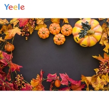 Autumn Backdrop Brown Leaves Pumpkin Baby Shower Children Birthday Photography Background For Photo studio Photocall Photophone allenjoy photography backdrop leaves wall green nature baby shower children background photo studio photocall