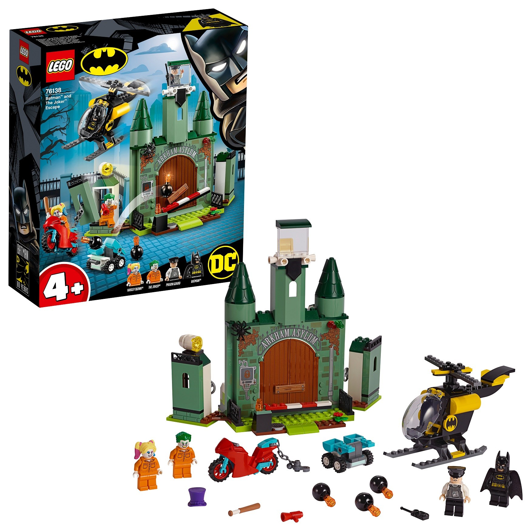 Designer Lego DC Comics Super Heroes 76138 Batman And Joker Escape