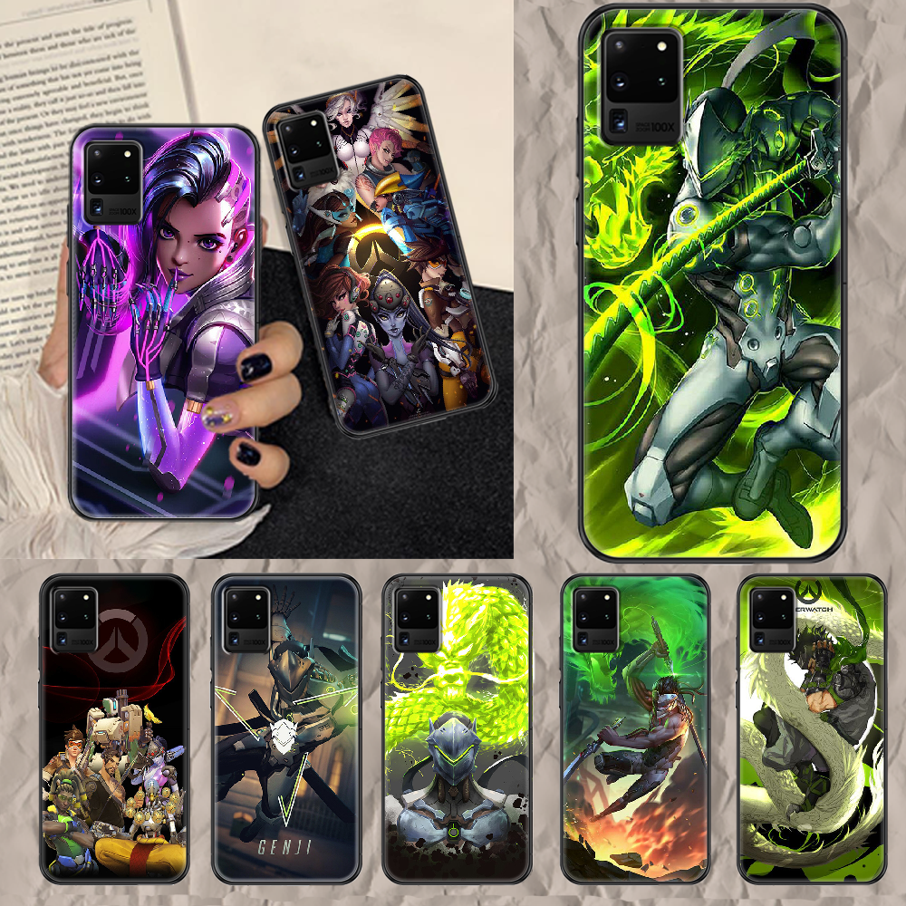 Overwatch Phone case For Samsung Galaxy Note 4 8 9 10 20 S8 S9 S10 S10E S20 Plus UITRA Ultra black art hoesjes painting