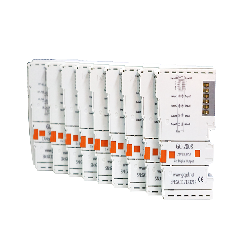 Купить с кэшбэком PLC connected with I/O modules has high speed CPU and 3 interface:  CAN/CANopen, Ethernet/Modbus TCP, RS232/485/Modbus RTU.