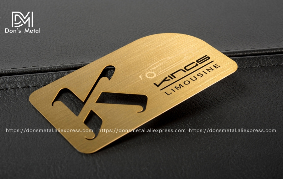 Gold hollow stainless steel business card and black membership card stainless steel metal business card