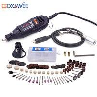 GOXAWEE 130W Elektrische Mini Bohrer Gravur Dremel Stil Variable Speed Dreh Werkzeug Grinder Mit Zubehör DIY Power Tools