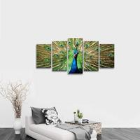 The 5 Piece Modern Stretched and Framed Giclee Canvas Prints Artwork Green Animals Pictures Paintings Drop shipping