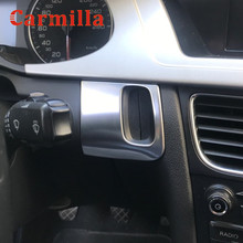 Carmilla Car Ignition Key Hole Trim Cover for Audi A4 B8 2008 - 2015 A5 8T S5 LHD Interior KeyHole Decoration Sticker