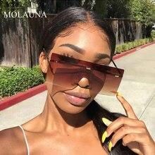 Oversized Sunglasses Women 2019 Luxury Brand Rimless Sun Glasses Retro Vintage Female Glasses Eyewear oculos de sol Feminino