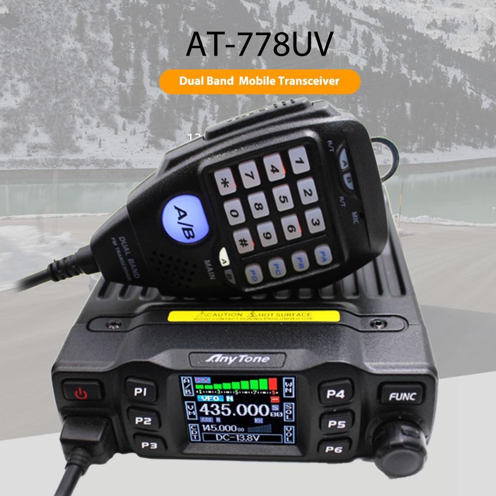 AnyTone AT-778UV-mini transmisor-receptor de doble banda, Radio Móvil VHF 136-174 UHF 400-480MHz, Radio bidireccional y radioaficionado Antena de Quad Band de Radio móvil, 144/220/350/440MHz, para walkie talkie de coche QYT KT-7900D, antena móvil de ANT-7900D