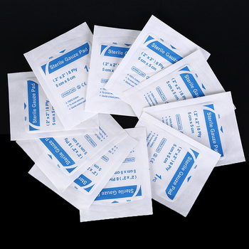 JETTING 100Pcs Medical Gauze Pads Non-Woven Swabs Braces Support Sterile Wound Sponges Cotton Surgical Dressing Health Care Tool