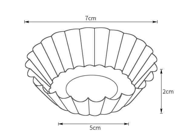 1 PCS 7X5 ซม.อาหาร Tinplate เกรดไข่ Tart แม่พิมพ์ Cupcake แม่พิมพ์