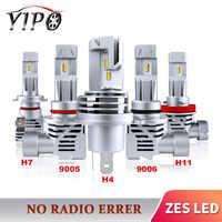 2PCS H4 ha condotto il faro H7 H11 9005 HB3 9006 HB4 faro lampada automotivo H7 led ZES auto luce lampadina hi lo fascio 12V 6000lm 6000k