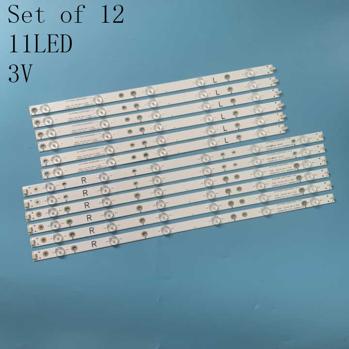 one set Brand New 12pcs LED strips LC-50LB370U 500TT66 500TT65 V1